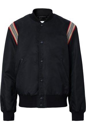 Burberry Icon Stripe trim bomber jacket