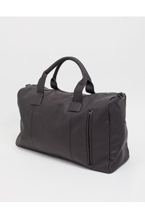 French Connection Muži Cestovní tašky - Faux leather classic holdall bag in brown