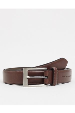 French Connection Muži Pásky - Keeper buckle belt in brown leather