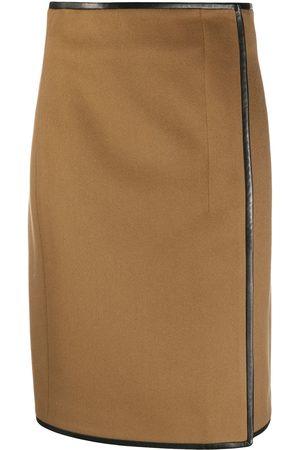 Saint Laurent Wrap-effect skirt