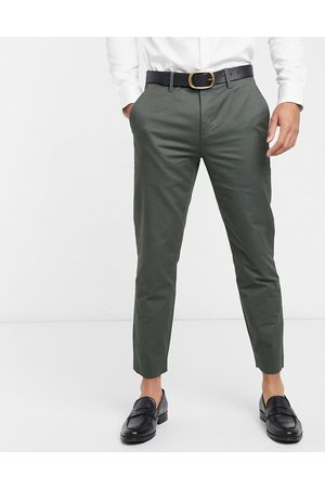 Ted Baker Muži Chino - Cliftro dyed cotton cropped trousers-Green