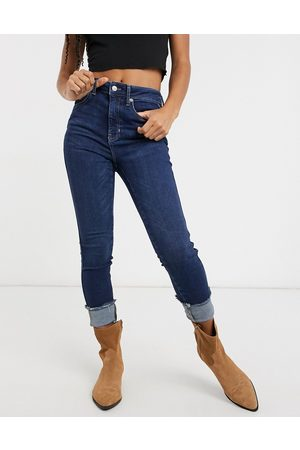 Free People Raw high rise skinny jeans in blue