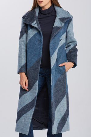 GANT Kabát D2. Graphic Funnel Neck Wool Coat