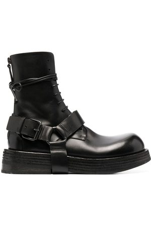 MARSÈLL Harness leather lace-up boots