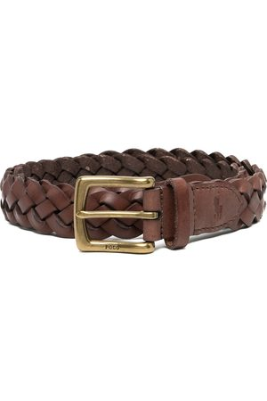 Polo Ralph Lauren Muži Pásky - Vegan leather braided belt