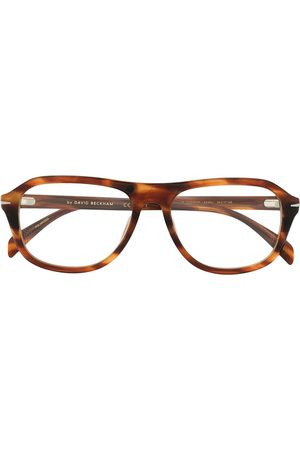 Eyewear by David Beckham Tortoise shell round sunglasses