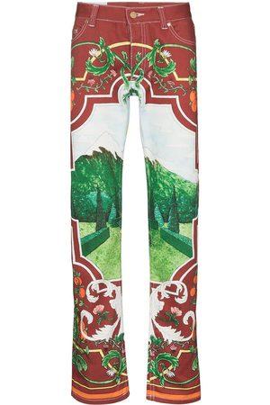 Casablanca Fenetre Sur Le Lac printed jeans