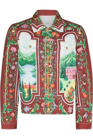 Casablanca Fenetre Sur Le Lac printed denim jacket