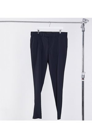 ASOS Muži Chino - Plus skinny smart trousers in navy