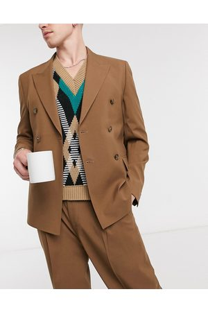 ASOS Boxy suit jacket in brown