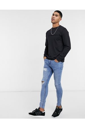 Another Influence Raw edge long sleeve top in black