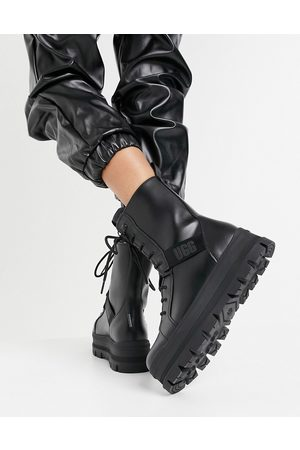 UGG Sheena lace up boots in black