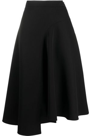 Rochas High-waist asymmetric midi skirt