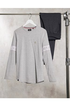 Le Breve Lounge printed long sleeve t-shirt in grey