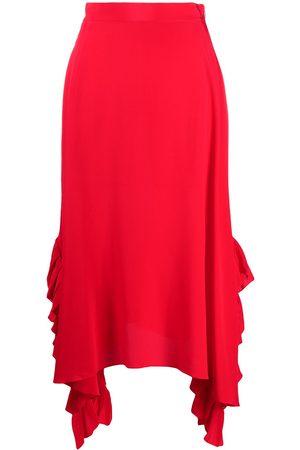 Stella McCartney Silk draped ruffle skirt