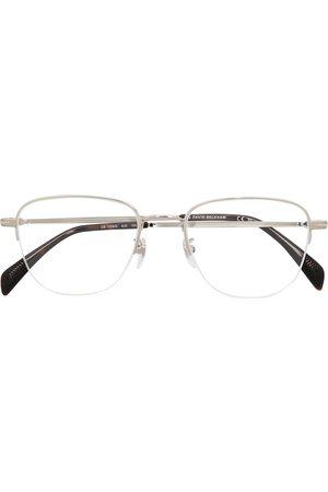 Eyewear by David Beckham Semi-rimless rectangular frame glasses