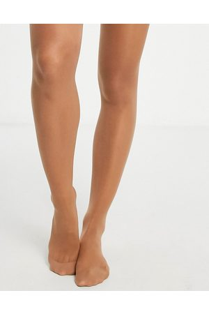 Lindex 40 dernier firm shaping tights in tan-Beige