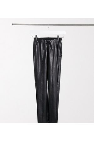 New Look Leather look legging in black