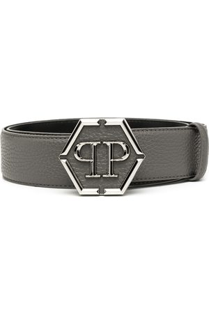 Philipp Plein Hexagon logo-plaque belt