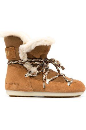 Moon Boot Ženy Šněrovací - Shearling-lined lace-up boots