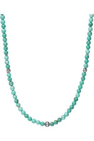 Nialaya Muži Náhrdelníky - Turquoise beaded necklace