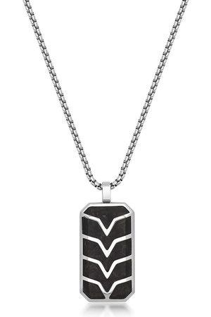 Nialaya Muži Náhrdelníky - Chevron-detail dog tag necklace
