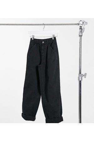 ASOS ASOS DESIGN Petite slouchy chino trouser in black