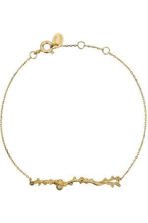 Alex Monroe 18kt yellow gold Coral Opal Branch bracelet