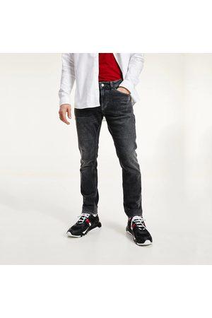 Tommy Hilfiger Pánské tmavě šedé džíny Scanton