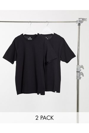 Pull&Bear Join Life 2-pack t-shirt in black