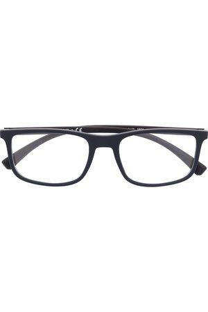 Emporio Armani Rectangle-frame clear glasses
