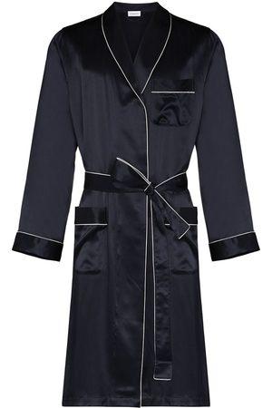 Zimmerli Piped-trim silk robe
