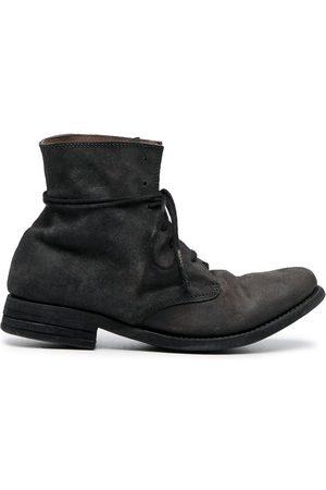 POÈME BOHÉMIEN Reverse lace-up boots