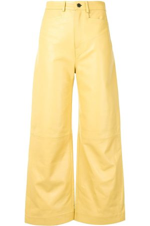 PROENZA SCHOULER WHITE LABEL Nappa leather flared trousers