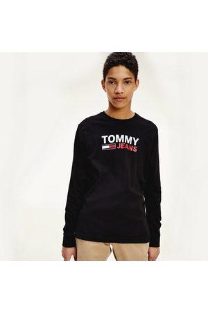 Tommy Hilfiger Muži S dlouhým rukávem - Pánské černé triko s dlouhým rukávem
