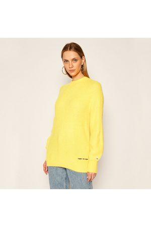 Tommy Hilfiger Dámský žlutý svetr Lofty Yarn