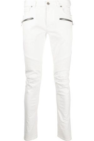 Balmain Slim-fit panelled jeans