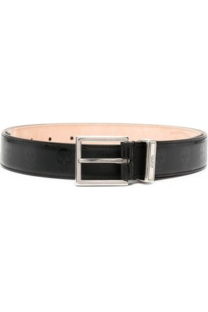Alexander McQueen Skull-motif square-buckle adjustable belt