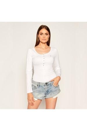 Guess Ženy S dlouhým rukávem - Dámské bílé triko s dlouhým rukávem