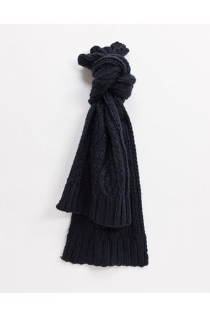 French Connection Cable knit scarf mix and match-Grey