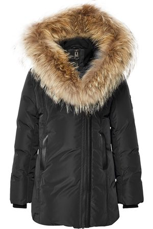 Mackage Kabáty - Leelee Down Coat with Natural Fur Signature Collar in Black