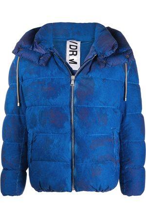 DROME Tie-dye detachable-hood puffer jacket