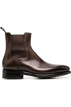 santoni Almond toe ankle boots