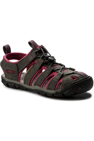 Keen Sandály - Clearwater Cnx Leather 1014370 Magnet/Sangria