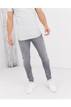 JACK & JONES Muži Skinny - Intelligence Liam skinny fit stretch jeans in light grey