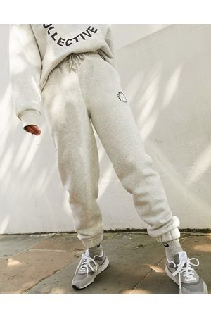 Weekend Collective ASOS oversized jogger with logo in grey marl