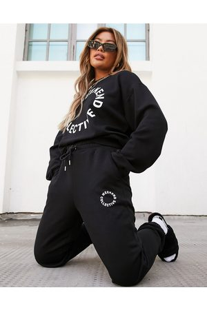 Weekend Collective ASOS oversized jogger with logo in black