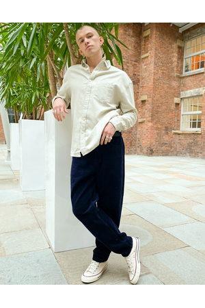 ASOS Muži Volnočasové - 90s oversized flannel shirt in beige