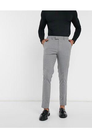 ASOS Muži Chino - Skinny smart trousers in grey