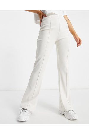 Missguided Co-ord flared joggers in ivory-White
